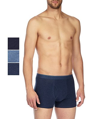 3 Pack Cool & Fresh™ Stretch Cotton Trunks with StayNEW™, DENIM MIX, catlanding