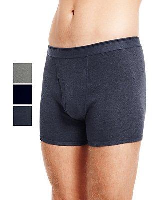 3er-Pack Cool & Fresh™-Shorts aus reiner Baumwolle in XXXL, DENIM, catlanding