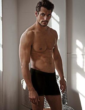 Set van 2 boxershorts van Supima®-katoen met stretch, ZWART, catlanding