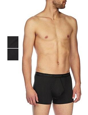 2 Pack Microskin Trunks, BLACK, catlanding