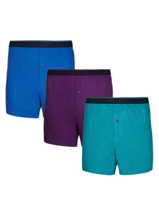 3 Pack Pure Cotton Cool & Fresh™ Boxers with StayNEW™ Clothing