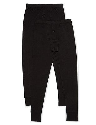 2 Pack Heatgen™ Thermal Long Pants, BLACK, catlanding