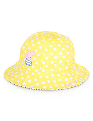 Peppa Pig™ Pure Cotton Spotted Hat (Younger Girls) Clothing