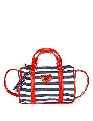 Pure Cotton Nautical Striped Bag (Older Girls) Clothing