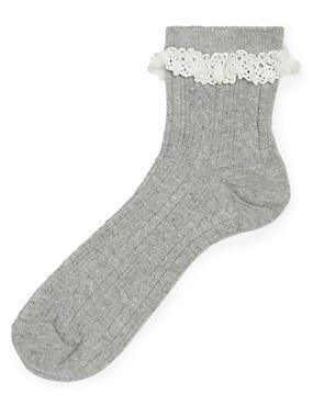School Grey Socks Girls - Marks and Spencer