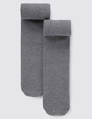 2 paar thermische Freshfeet™-maillots met wol (5-14 jaar), GRIJS, catlanding