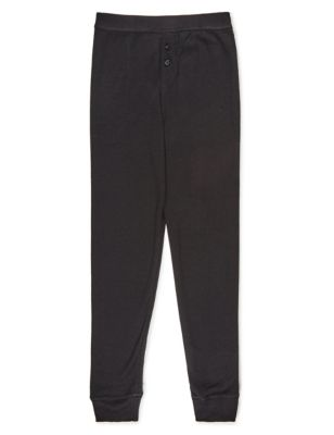 Однотонные термо-брюки с манжетами для мальчика 1-16 лет T710576