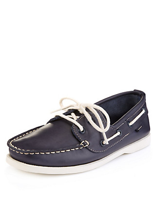 Leather Boat Shoes (Older Boys) Clothing