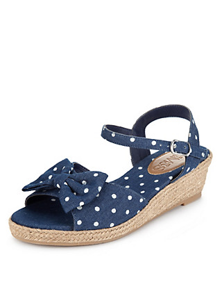 Denim Wedge Sandals Clothing