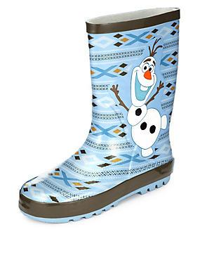 Kids' Disney Frozen Olaf Welly Boots, WHITE MIX, catlanding
