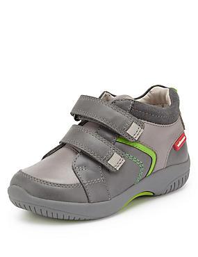 Kids' Walkmates Leather Sporty Riptape Boots, GREY MIX, catlanding