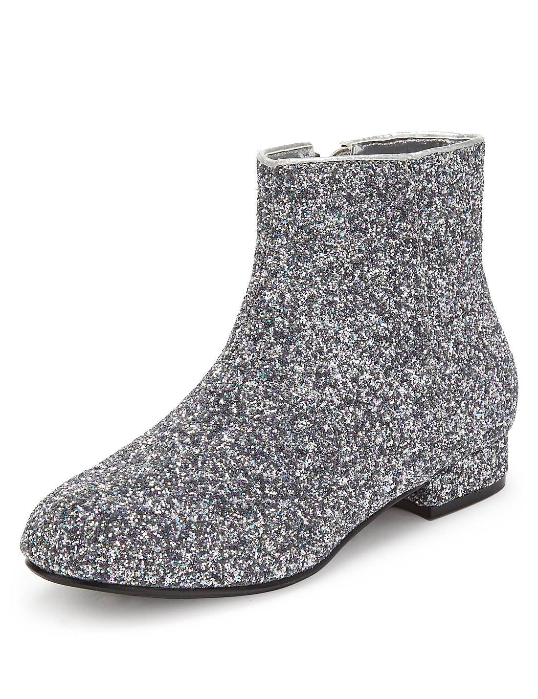 Glitter Effect Ankle Boots | M&S