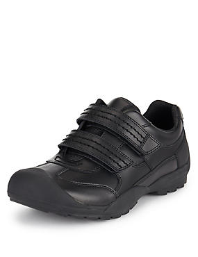 Scuff Resistant Coated Leather School Trainers (Older Boys)