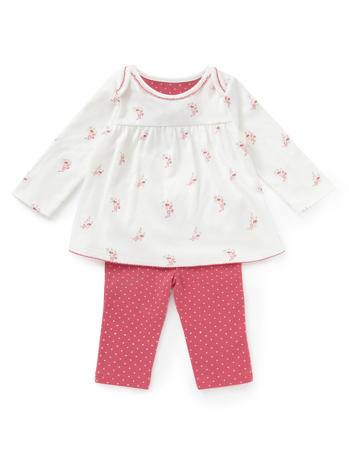 2 Piece Pure Cotton Floral Tunic & Leggings Outfit