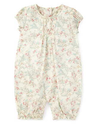 Pure Cotton Floral Onesie Clothing