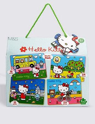 Hello Kitty 4-in-1 Jigsaw Puzzle, , catlanding