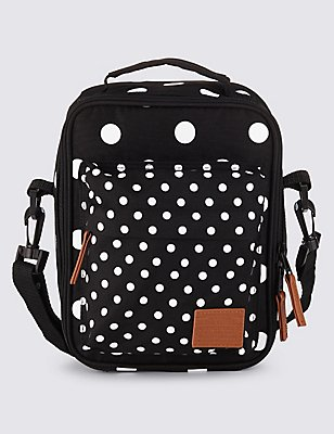 Kids' Spotted Lunch Bag with Thinsulate™, BLACK MIX, catlanding