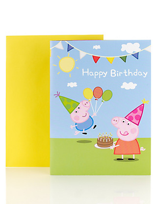 Peppa Pig™ Fold Out Birthday Poster Card Home