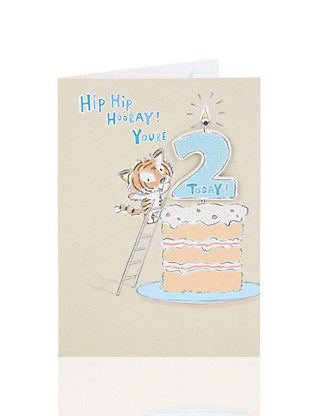 Age 2 Tiger Birthday Card Home