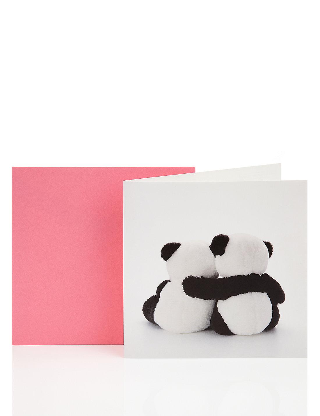 Cuddling pandas blank greetings card ms cuddling pandas blank greetings card kristyandbryce Image collections