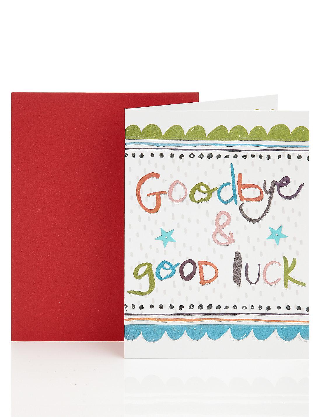 Goodbye good luck greetings card ms goodbye good luck greetings card kristyandbryce Image collections