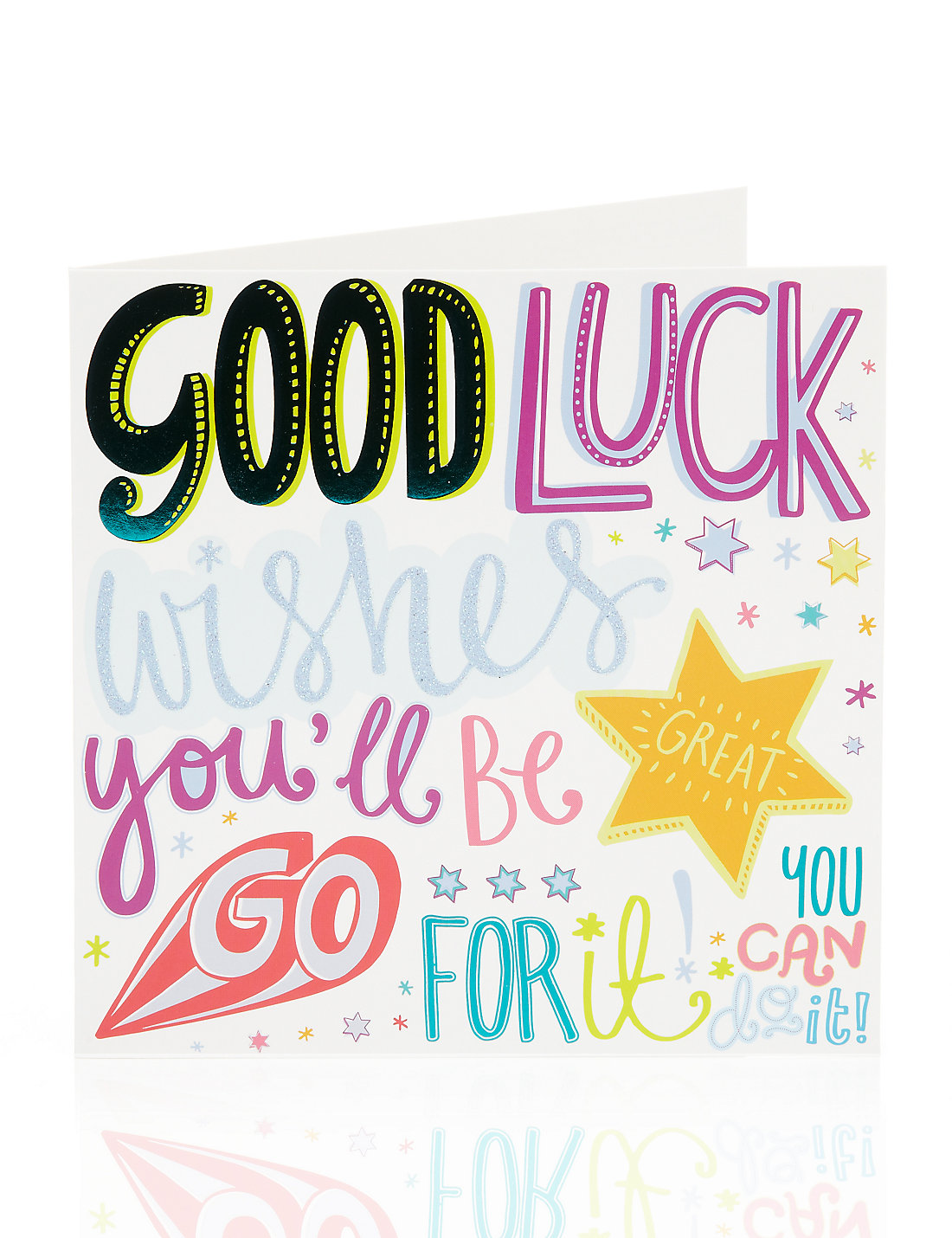 Bright letters good luck greetings card ms bright letters good luck greetings card kristyandbryce Image collections