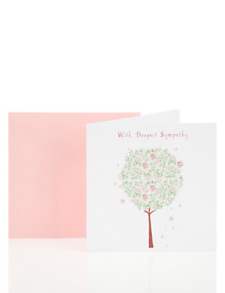 Sympathy Tree Greetings Card Home