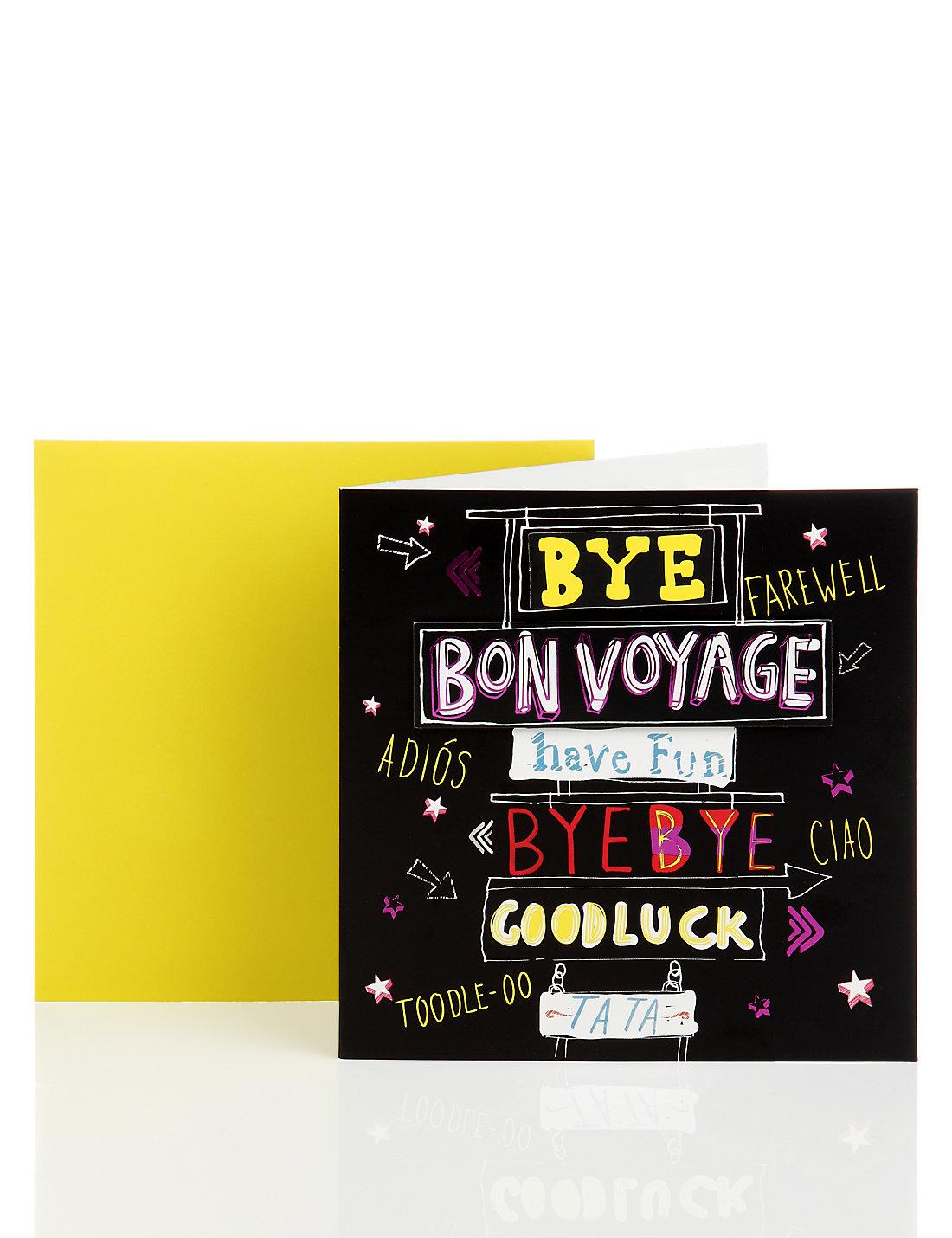 Bon voyage greetings card ms bon voyage greetings card kristyandbryce Image collections
