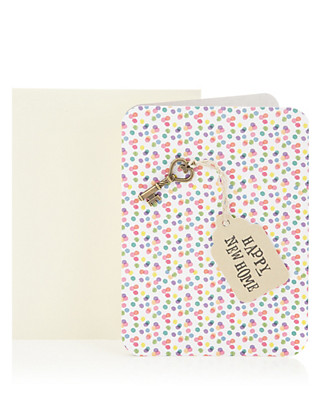 Spotty Key Happy New Home Greetings Card Home