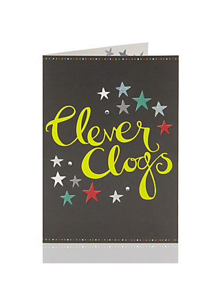 Congratulations Clever Clogs Greetings Card Home