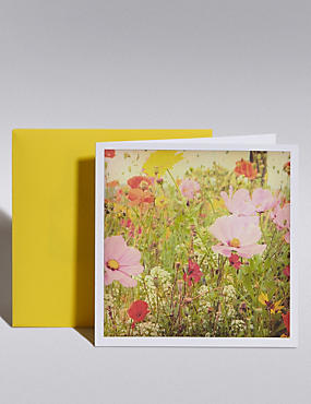 Photographic Wild Floral Blank Card