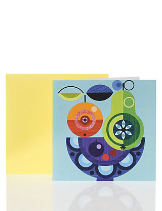 Abstract Fruit Bowl Card Home