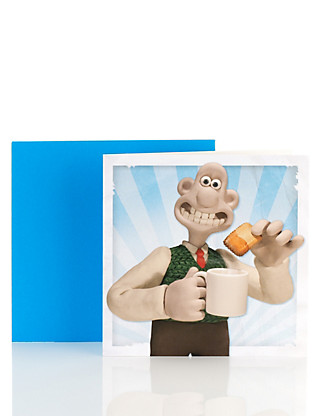 Wallace and Gromit Blank Card Home