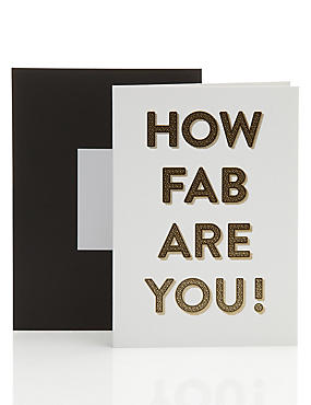 You're Fab Typographic Encouragement Card