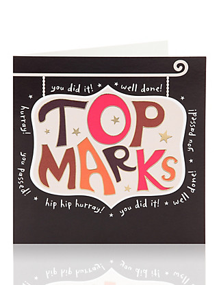 Top Marks Greetings Card Home