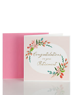 Floral Retirement Congratulations Card