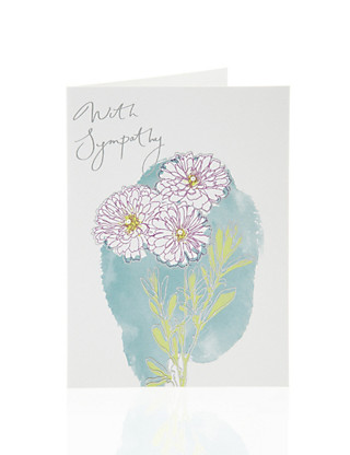Watercolour Sympathy Greetings Card Home