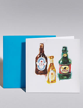 Beer Bottles Blank Card