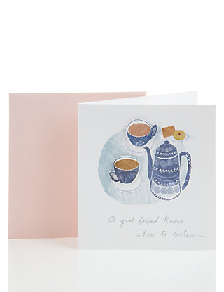 Classic Tea Table Friendship Card Home
