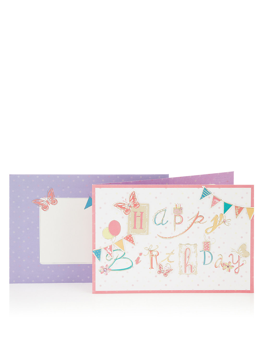 Happy birthday banners greetings card ms happy birthday banners greetings card kristyandbryce Image collections