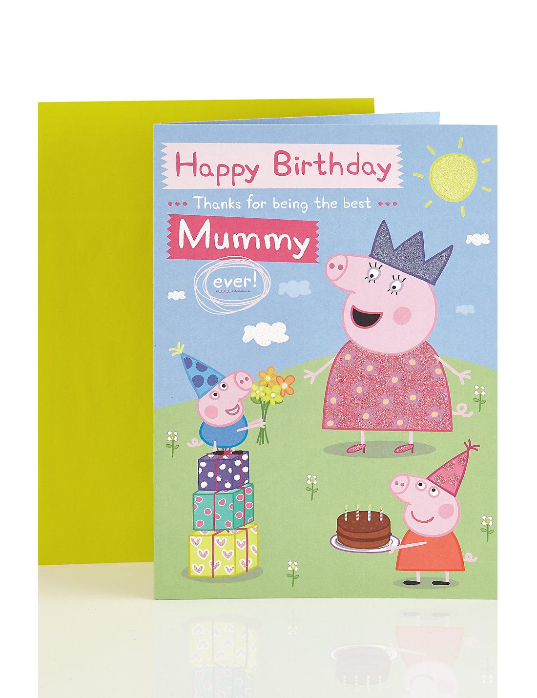 Peppa Pig Mummy Happy Birthday Card – Mummy Birthday Card