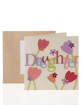 Daughter Tulips Birthday Card Home