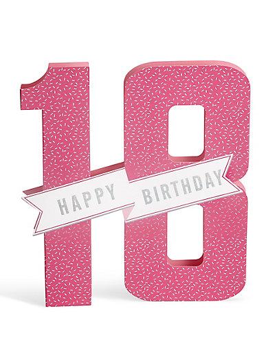 3D PopUp 18th Birthday Card – 18th Birthday Cards
