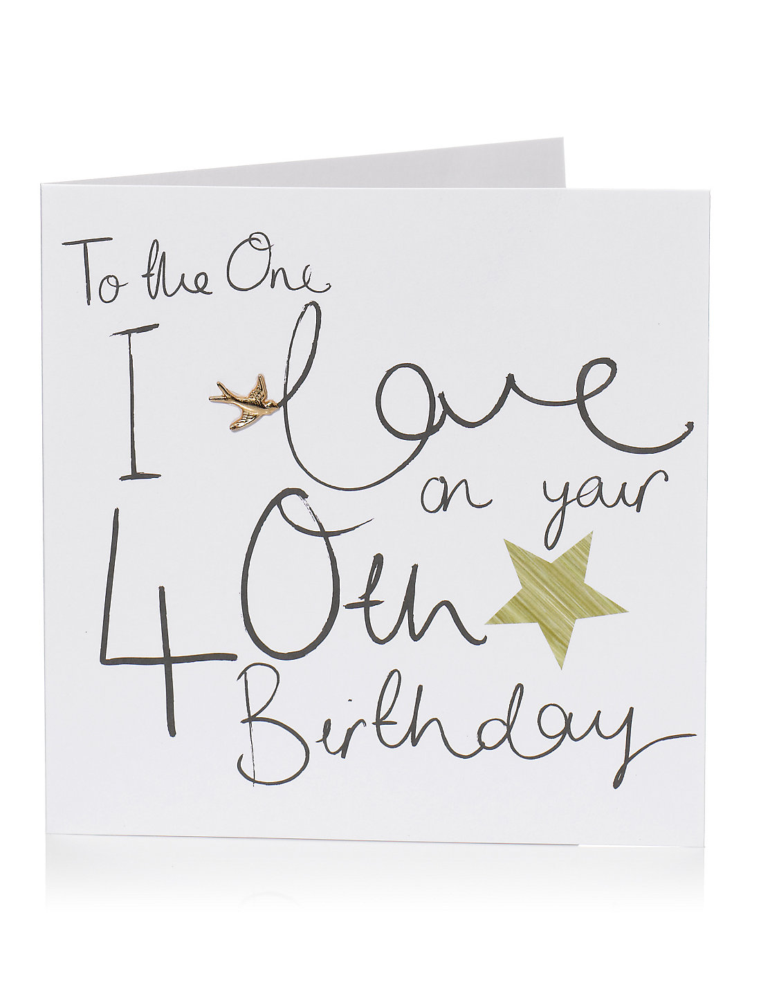 The One I Love 40th Birthday Card – Birthday Cards for a Loved One