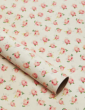 Royal Horticultural Society Traditional Rose 2 Meter Wrapping Paper