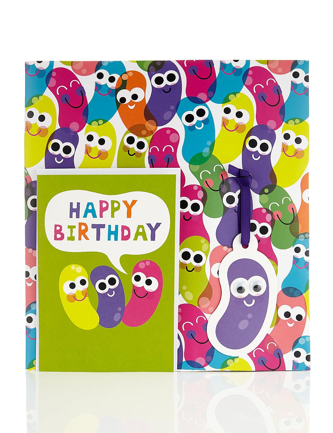 Jelly Bean Birthday Card Wrap Pack – Bean Birthday Card
