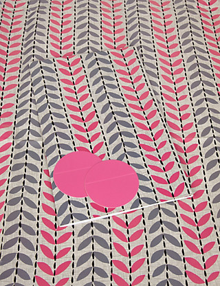 2 Grey & Pink Leaf Wrapping Paper Home