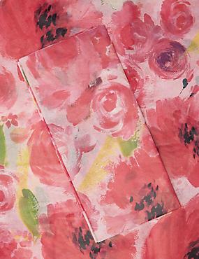 Papier cadeau en toile rose à motif fleuri, , catlanding