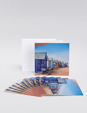 10 Beach Huts Multipack Cards