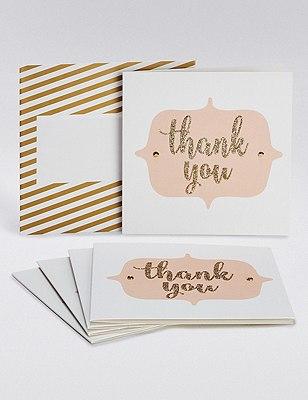 Glitter Thank You Cards, , catlanding